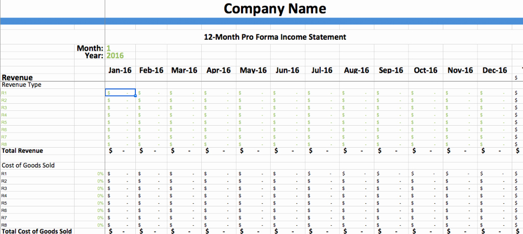Pro forma Financial Statement Example New Pro forma In E Statement Template – Dumbing It Down