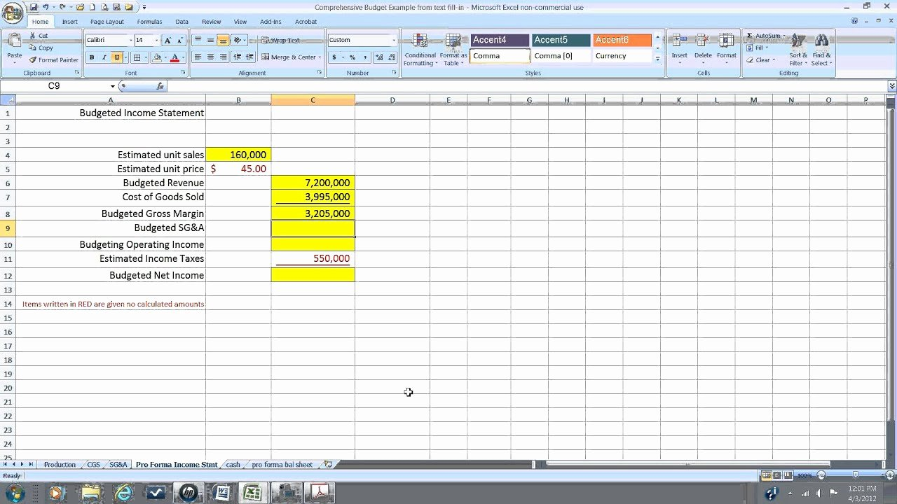 Pro forma Statements Examples New Pro forma In E Statement Wmv