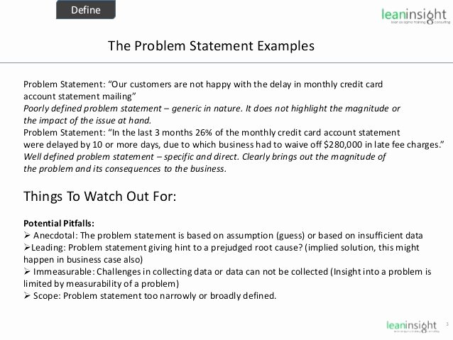 Problem Statement Examples Business Best Of 30 Business Problem Statement Example