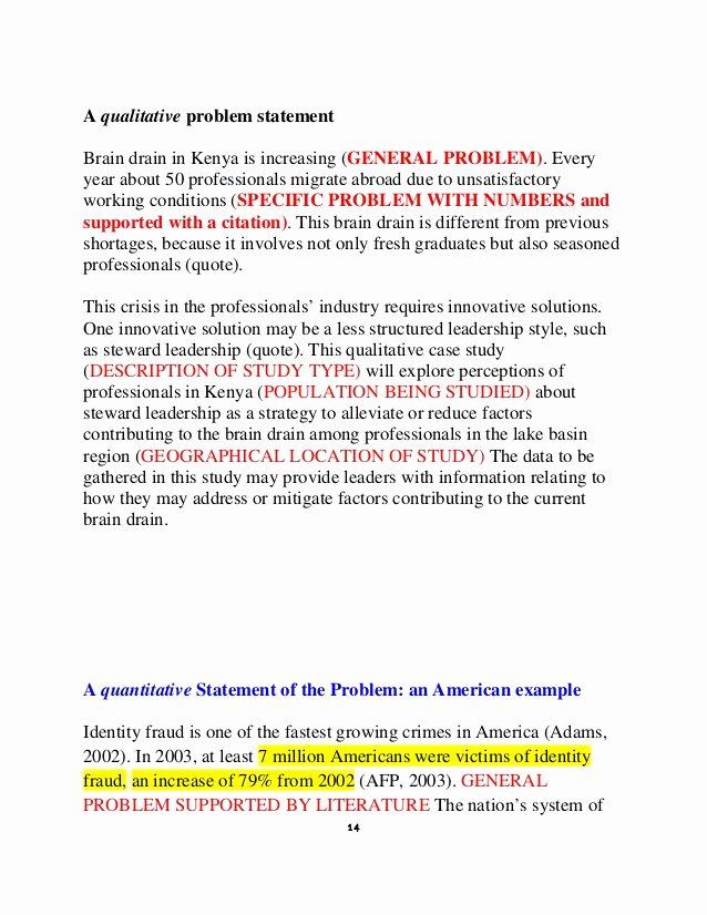 Problem Statement Examples Business Lovely How to Write A Statement Problem