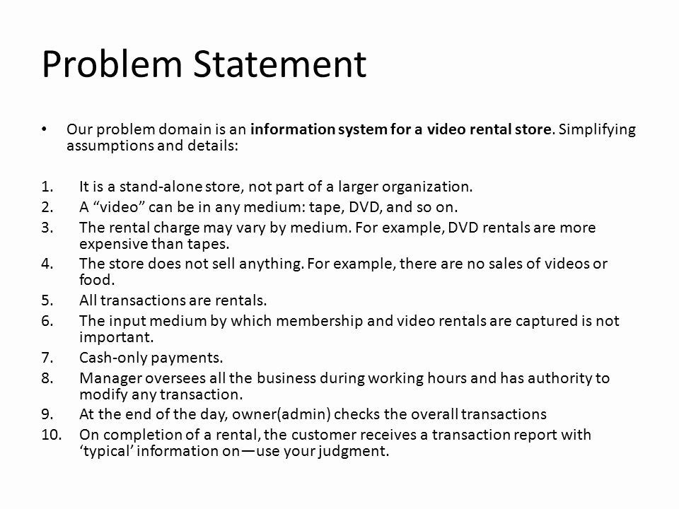 Problem Statement Examples In Business Awesome Quiz Ppt Video Online