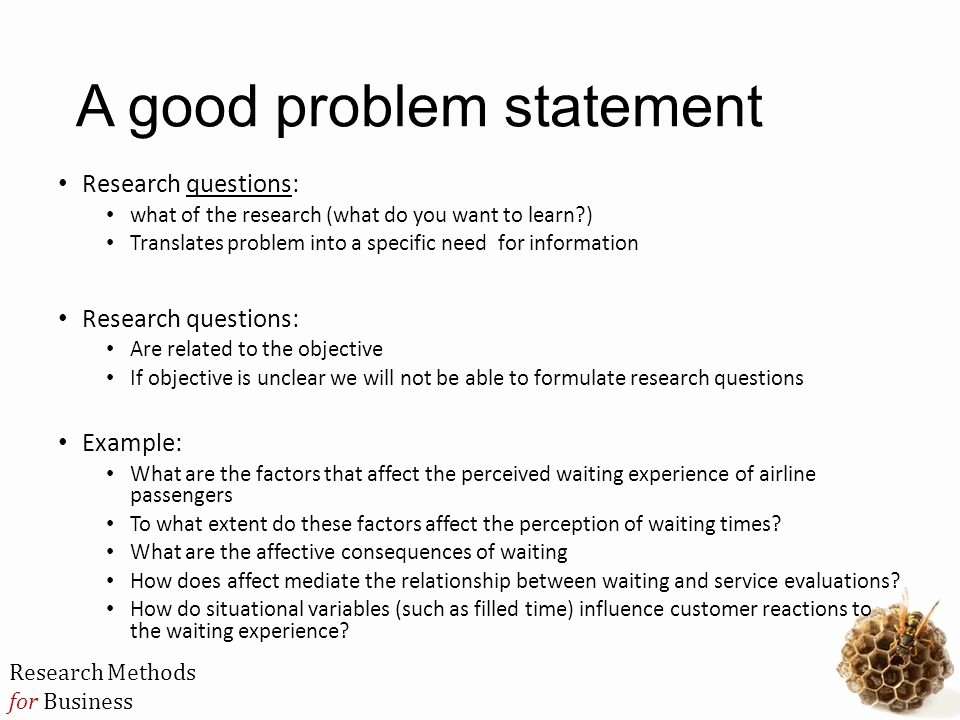 Problem Statement Examples In Business Elegant Mbb3724 Business Research Methods Ppt