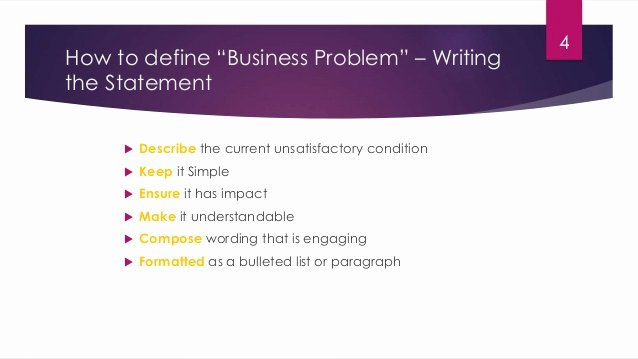 Problem Statement Examples In Business Inspirational How to Define Business Problem Statement
