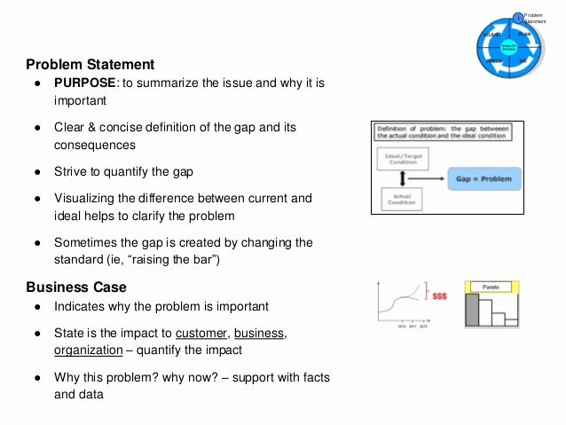 Problem Statement Examples In Business New A3 Problem solving