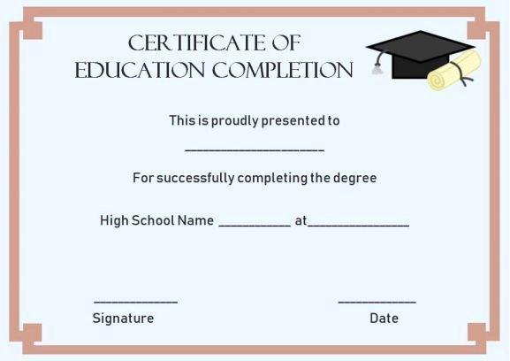 Professional Development Certificate Template Elegant Continuing Education Certificate Of Pletion Template