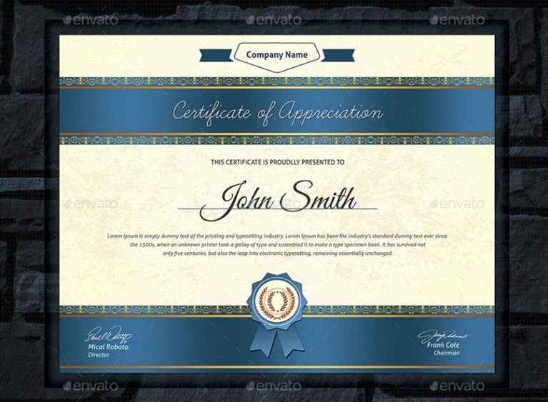 Professional Development Certificate Template Lovely 20 Professional Certificate Template Psd Indesign and