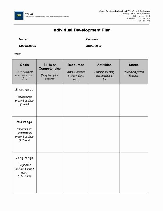 Professional Development Certificate Template New Employee Career Development Plan Template