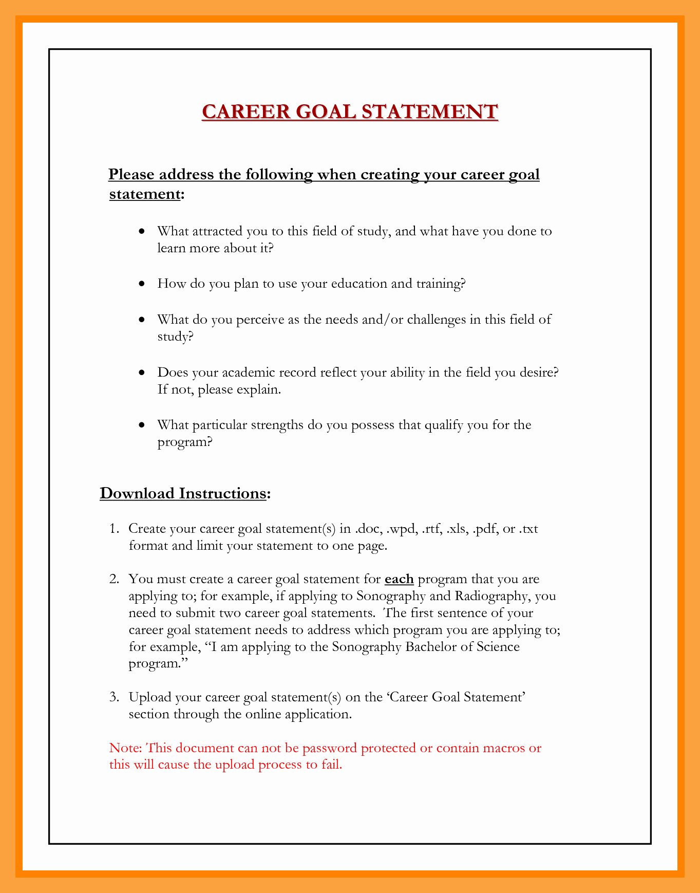 Professional Goals Statements Luxury Career Goal Ay Nursing Examples Mba Example Long Term