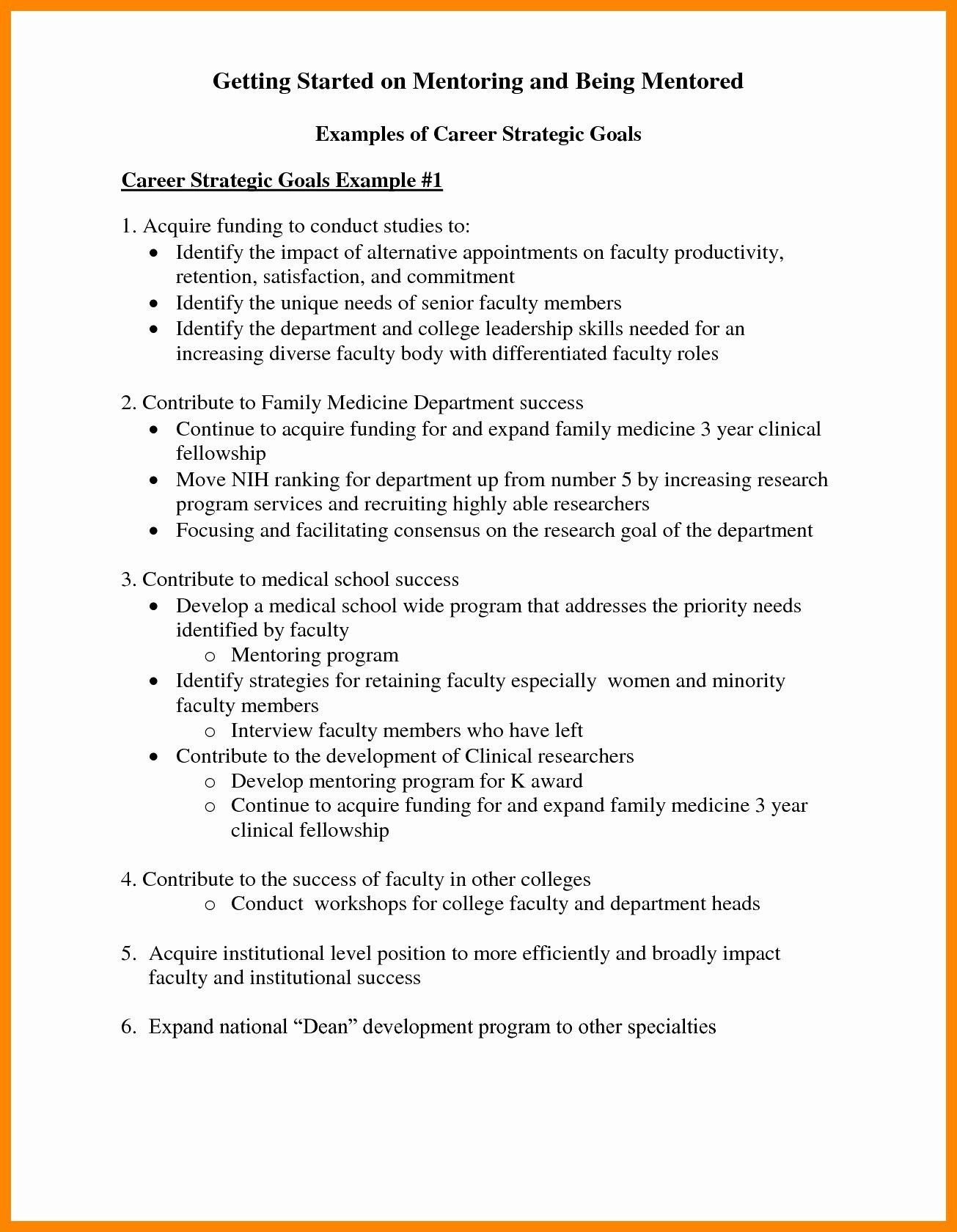 Professional Goals Statements New 30 Professional Goals Statements