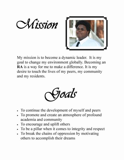 personal mission statement on resume