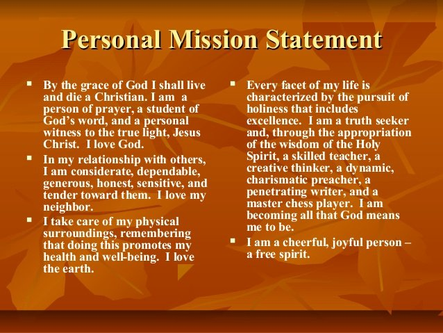 Professional Mission Statement Examples Inspirational Personal Mission Statement by Kwame Payne
