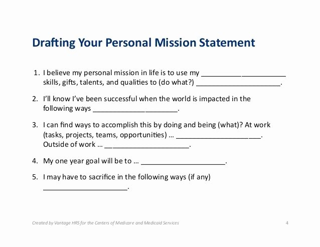 Professional Mission Statement Examples Lovely Mission Statement for Life Google Search