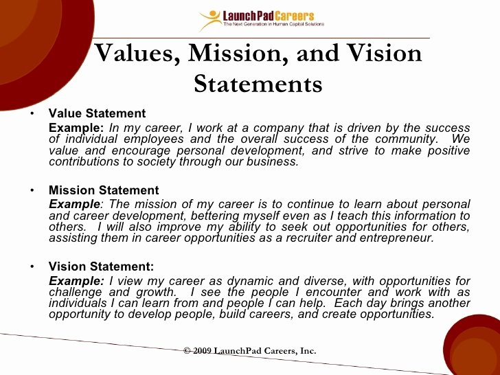 Professional Mission Statement Examples New How to Write Mission and Vission