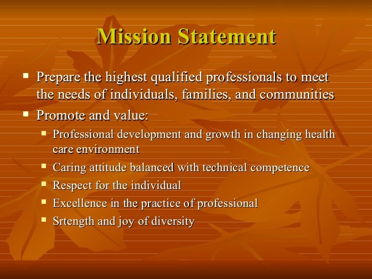 Professional Mission Statement Luxury Ethics Teaching In Nursing