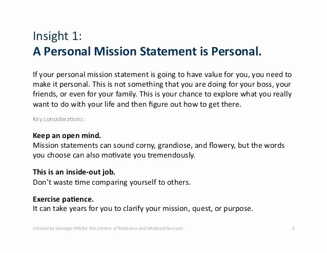 Professional Mission Statement Luxury Online Personal Leadership Vision Statement Examples