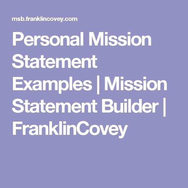 Professional Mission Statement Luxury Personal Mission Statement Examples