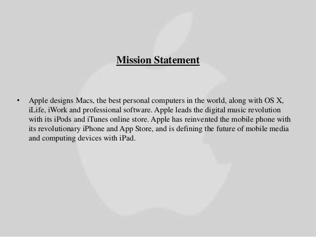 Professional Mission Statements Elegant Apple Inc