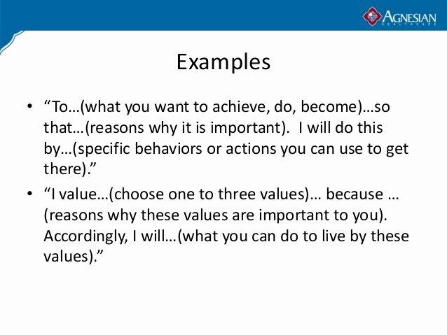 Professional Mission Statements Unique Personal Mission Statement Examples Alisen Berde