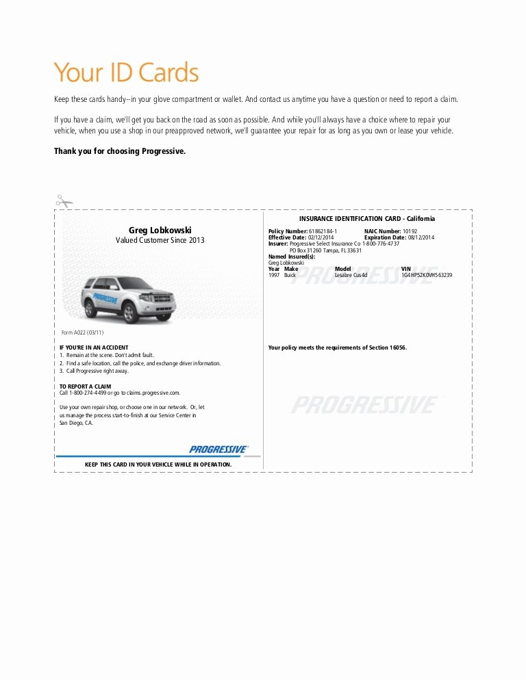 Progressive Insurance Card Template Fresh Pgr Insurance Idcard 1
