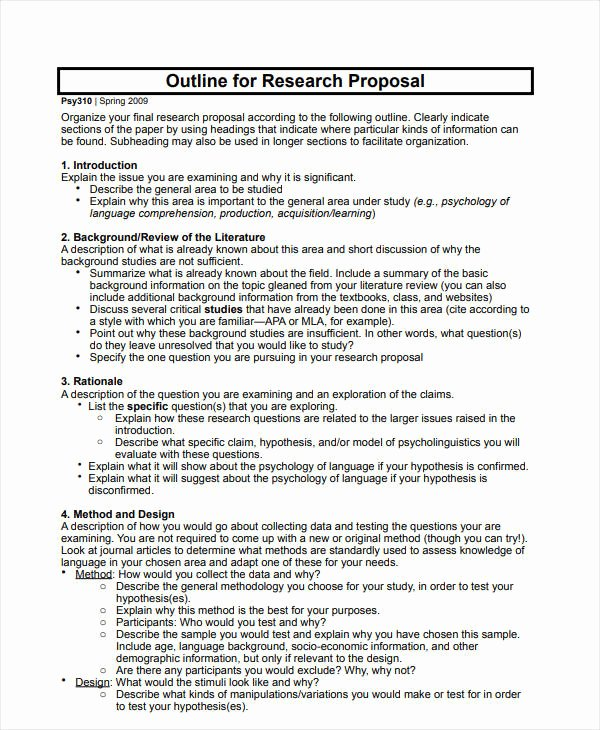 Project Proposal Outline Sample Awesome 12 Project Proposal Outline Templates Pdf Word