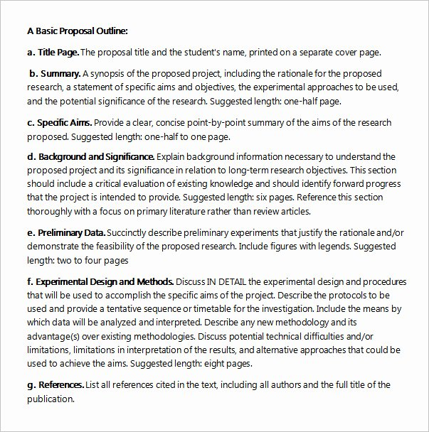Project Proposal Outline Sample Best Of Free 22 Sample Project Proposal Templates In Google Docs