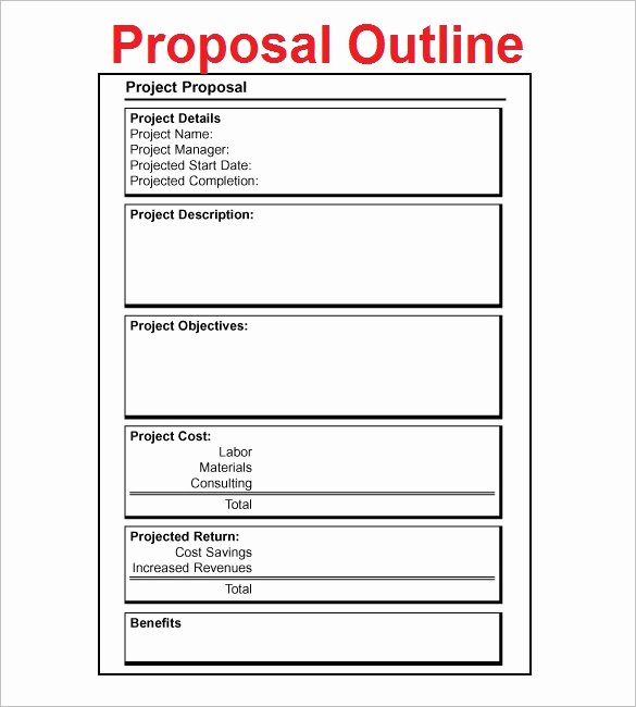 Project Proposal Outline Sample Elegant Proposal Outline Templates 20 Free Free Word Pdf