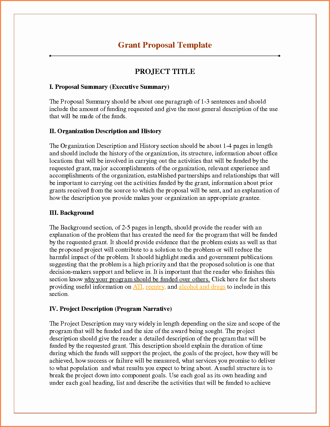 Project Proposal Outline Sample Lovely 6 Sample Of Funding Proposal Project