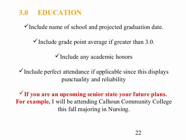 Projected Graduation Date On Resume Fresh Cover Letter and Resume Writing for High School Students