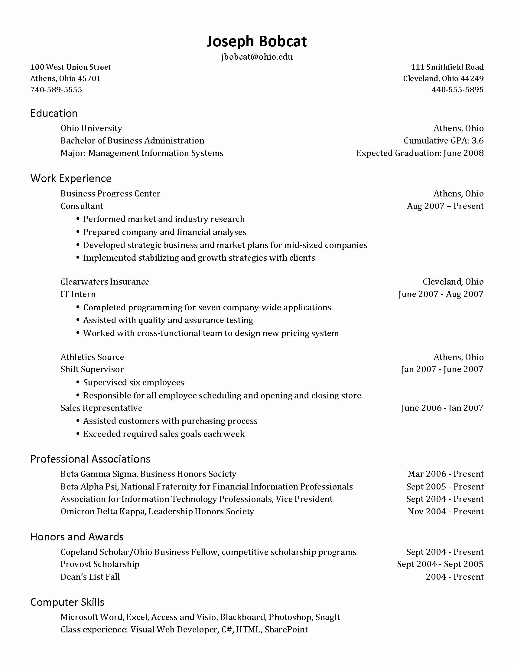 Projected Graduation Date On Resume Lovely Establishing Credentials Networking and Placement