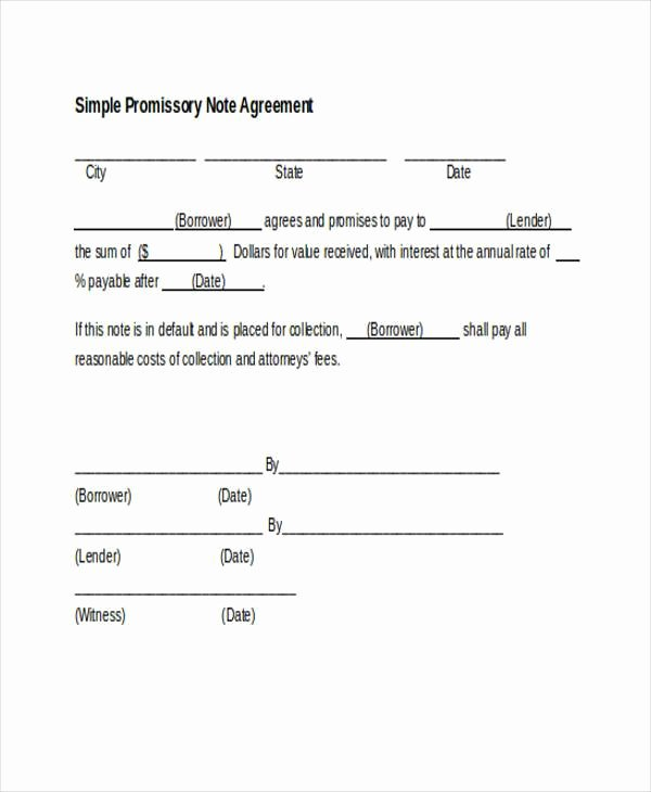 Promise to Pay Contract Fresh Free 7 Sample Promissory Note Agreement forms In Pdf