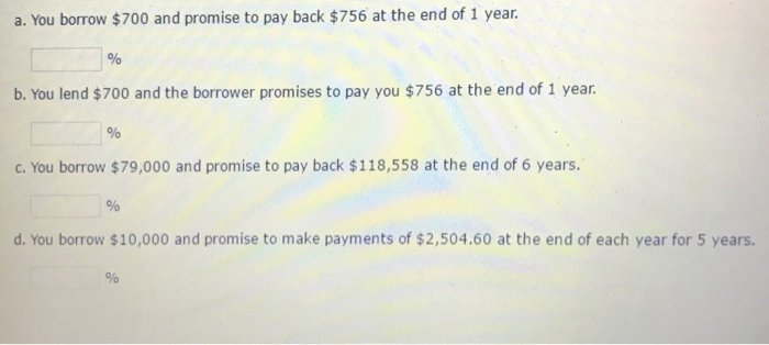 Promise to Pay Unique You Borrow $700 and Promise to Pay Back $756 at Th