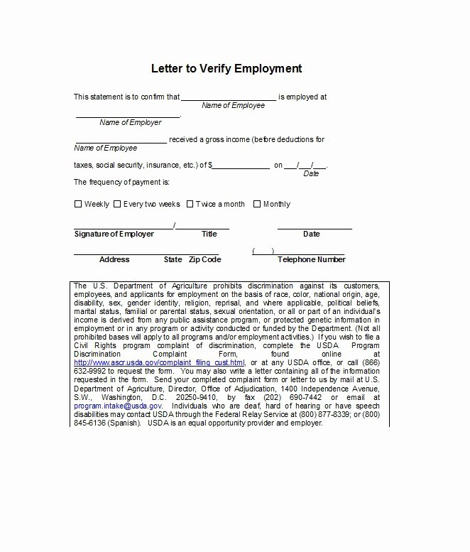 Proof Of Employment form Template Beautiful 40 Proof Of Employment Letters Verification forms & Samples