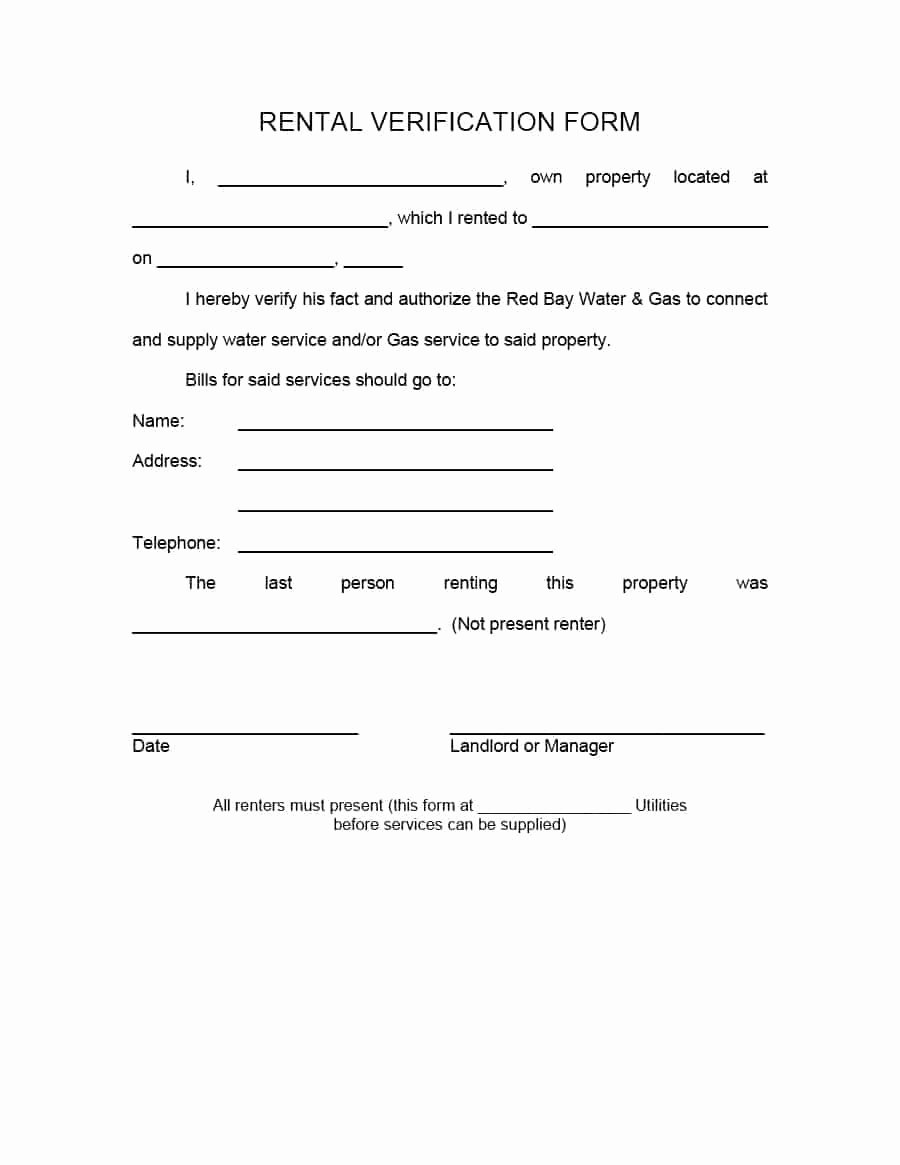 Proof Of Rent Payment Beautiful 29 Rental Verification forms for Landlord or Tenant
