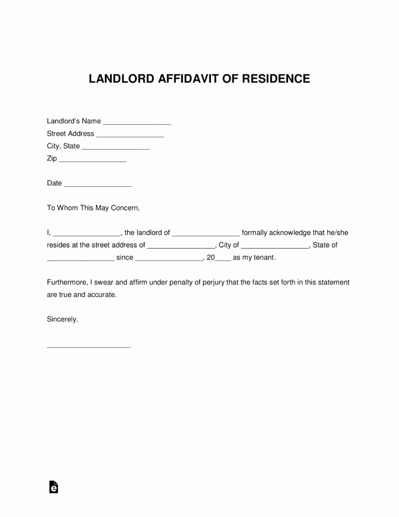 Proof Of Rent Payment Letter Best Of Free Landlord Proof Of Residency Letter Pdf