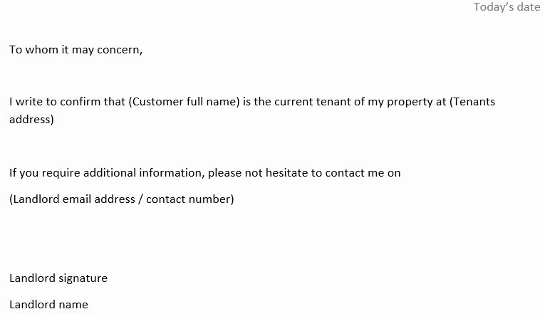 Proof Of Rent Payment Letter Fresh Proof Of Occupancy Dodo Support