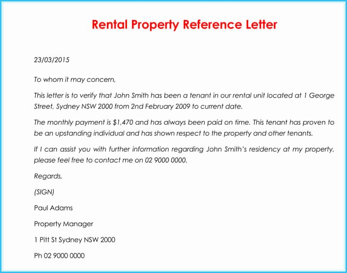 Proof Of Rent Payment Letter Sample Luxury Rental Reference Letter 9 Sample Letters formats and