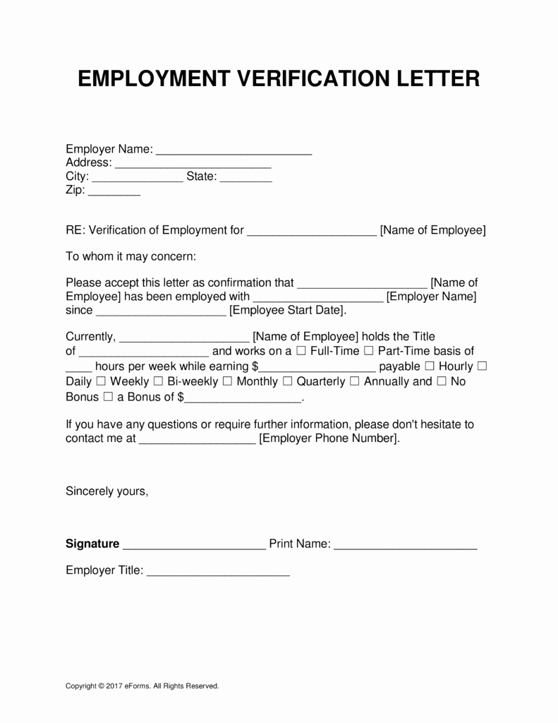 Proof Of Unemployment Income Letter Beautiful Free Employment In E Verification Letter Template