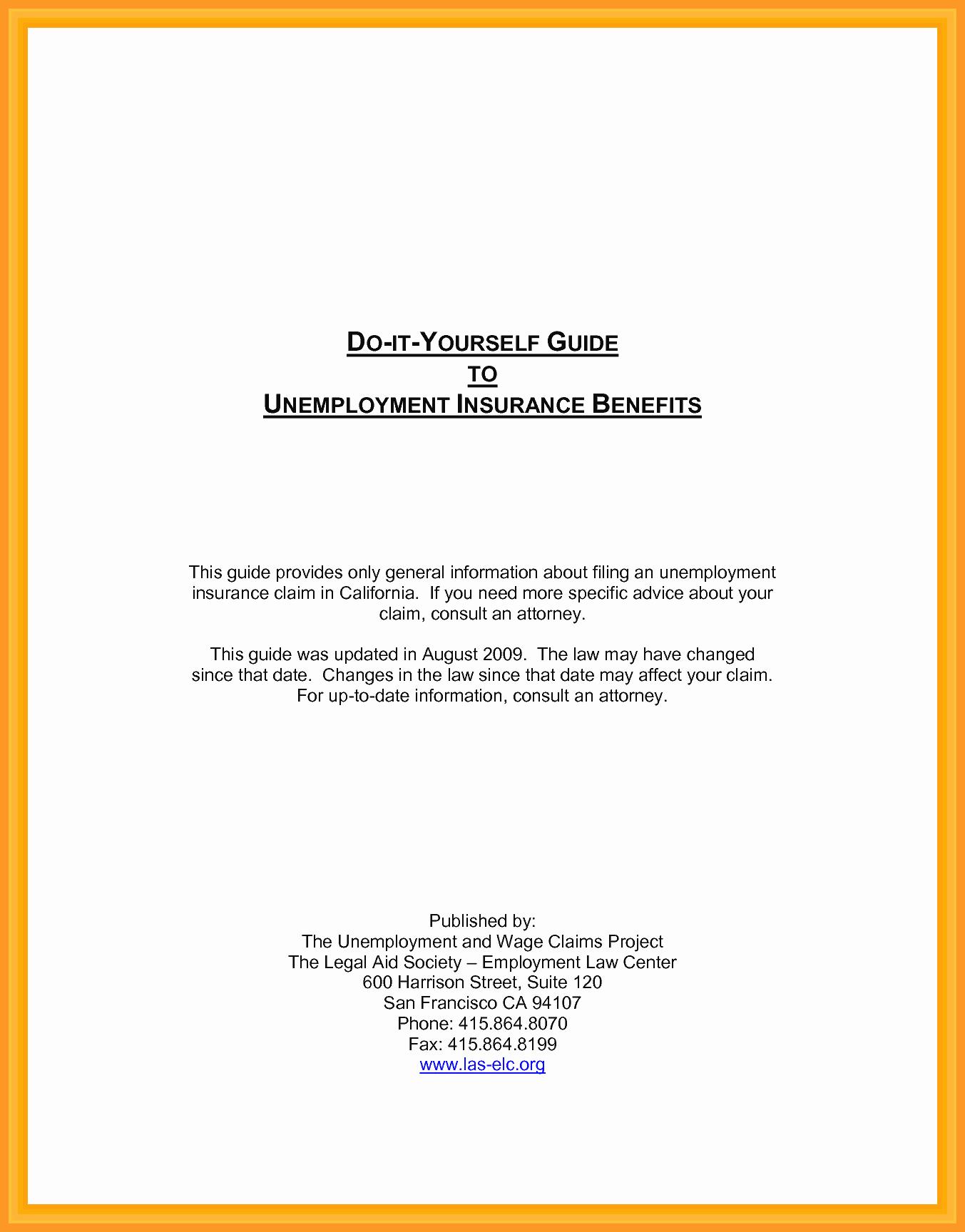 Proof Of Unemployment Letter New 9 10 Letter Unemployment Verification