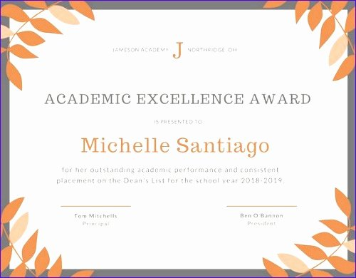 Pta Reflections Certificate Template Best Of 10 Award Excellence Template Exceltemplates