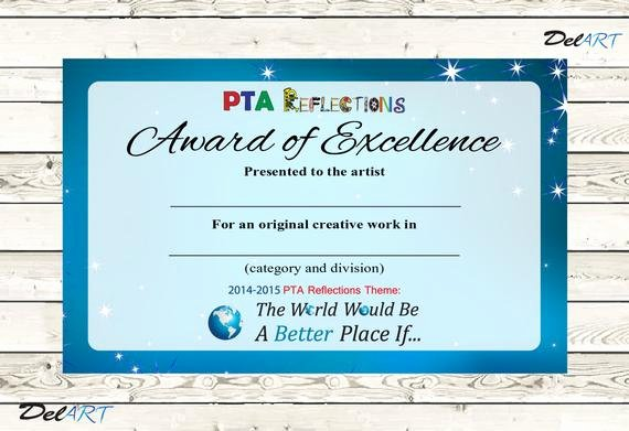 Pta Reflections Certificate Template New Pta Reflections Certificate 2014 2015 2 On One by