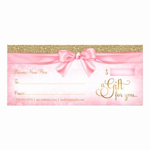 Pure Romance Gift Certificate Template Elegant 311 Pink Faux Glitter Gift Certificate