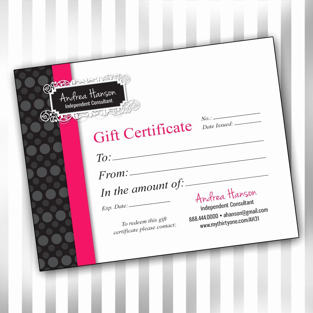 Pure Romance Gift Certificate Template Inspirational 5 Best Of Vistaprint Create Your Own Logo Pure
