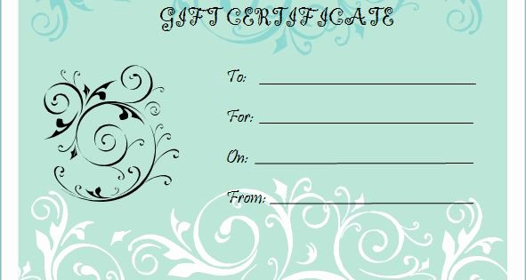 Pure Romance Gift Certificate Template Luxury Microsoft Bridal Shower T Certificate Templates