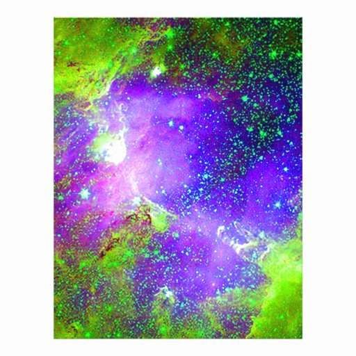 Purple Heart Certificate Template Elegant Purple and Green Galaxy Nebula Space Image Letterhead
