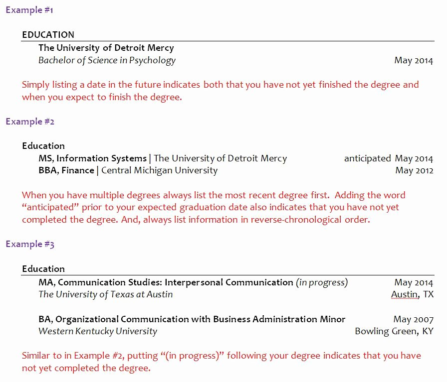Putting Expected Graduation Date On Resume Luxury How Should I List My Graduation Date if I Haven T yet