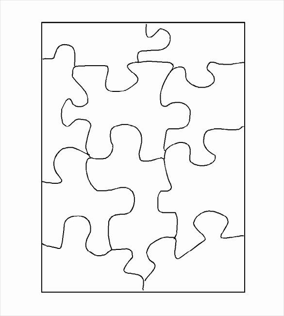 Puzzle Pieces Template Pdf Fresh Puzzle Template Blank Puzzle Template