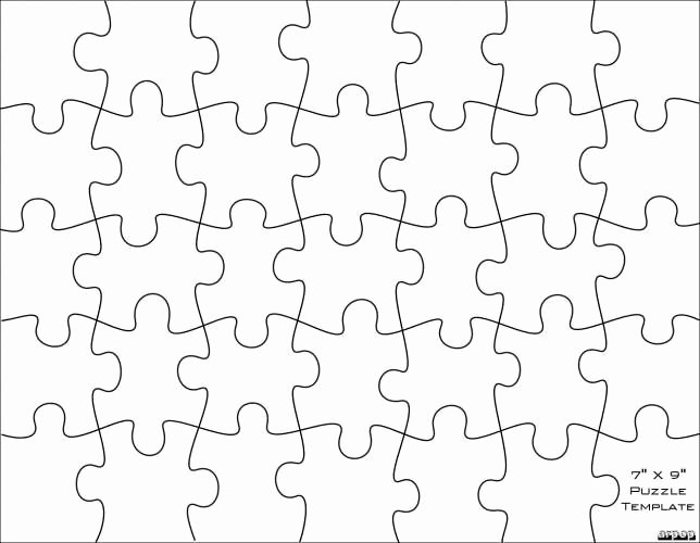 Puzzle Pieces Template Pdf Lovely Blank Jigsaw Puzzle Template Printable