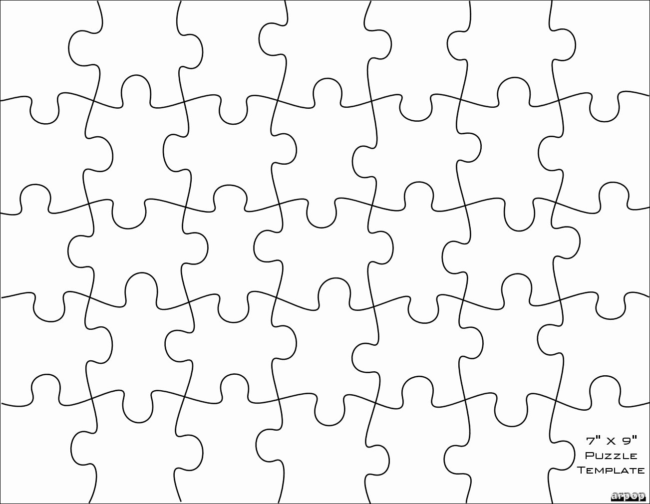 Puzzle Pieces Template Pdf Luxury Free Puzzle Pieces Template Download Free Clip Art Free
