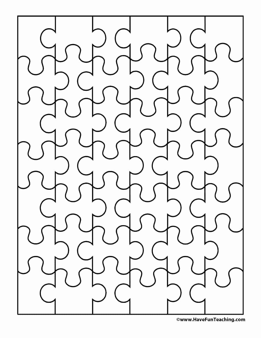 Puzzle Pieces Template Pdf New 19 Printable Puzzle Piece Templates Template Lab