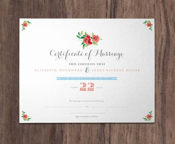 Quaker Wedding Certificate Template Best Of Printed